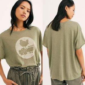 Free People Woodstock Clarity Ringer Tee Medium